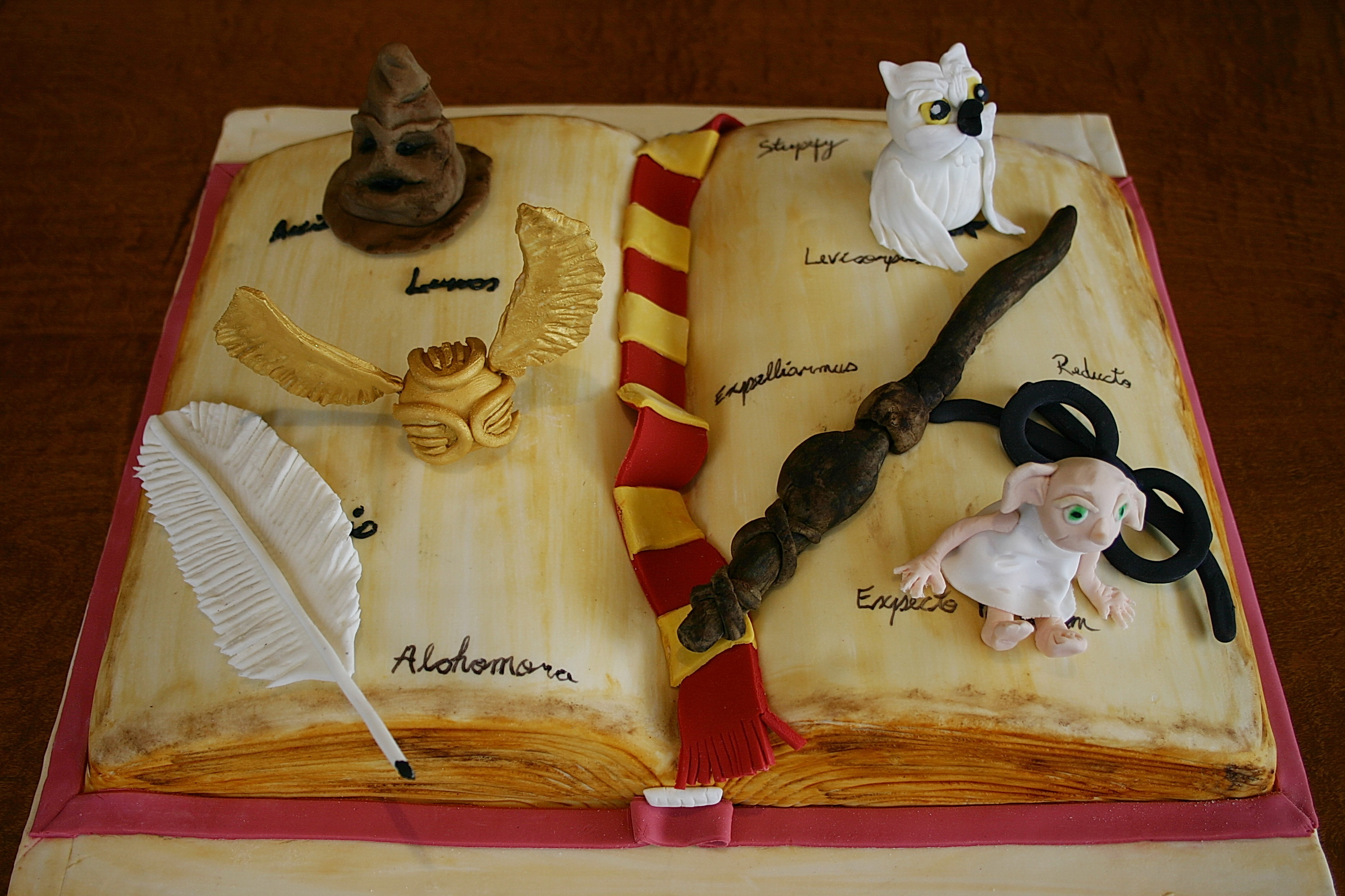 Harry Potter Book Cake ~ Harry potter temptationsisrael